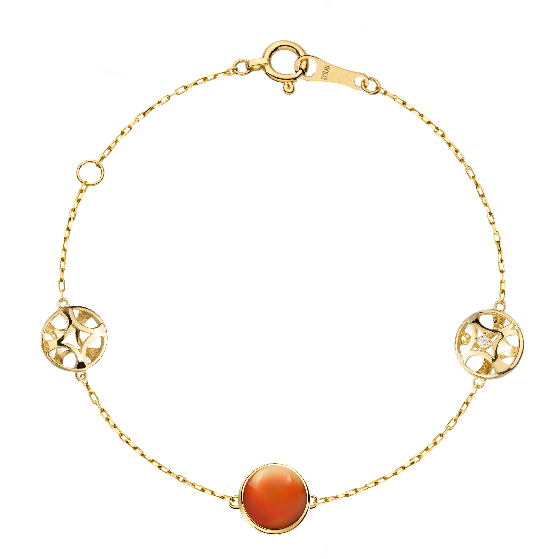 Soiree Collection 18K黄金 玛瑙钻石手链 5399