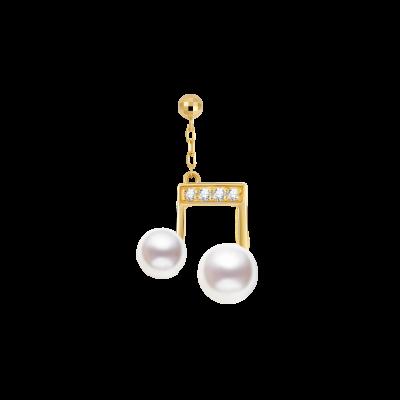 Humming Collection 18K金 珍珠音符吊坠 4699