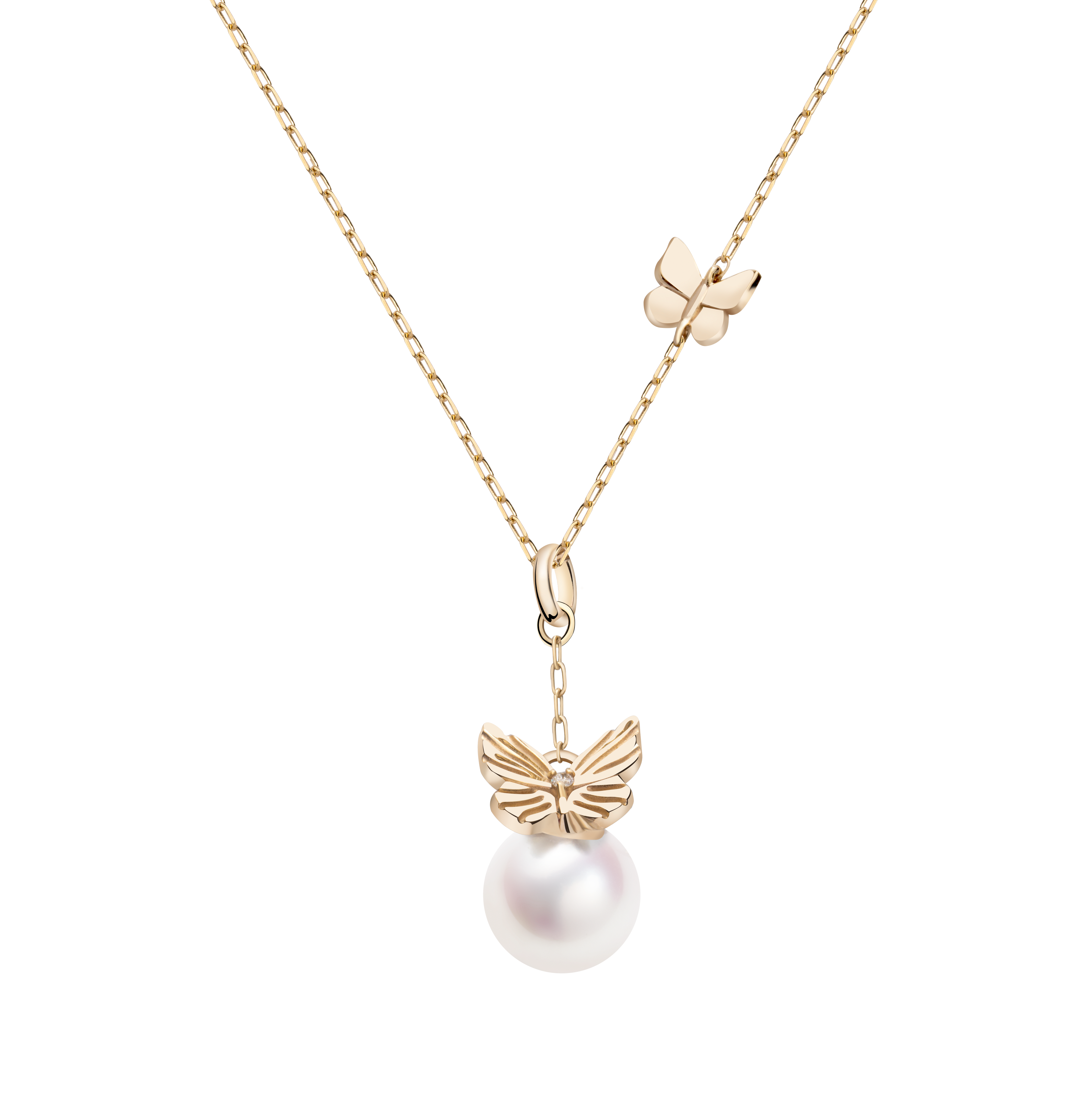 Frivole Collection 10K黄金 蝴蝶珍珠手链 3399
