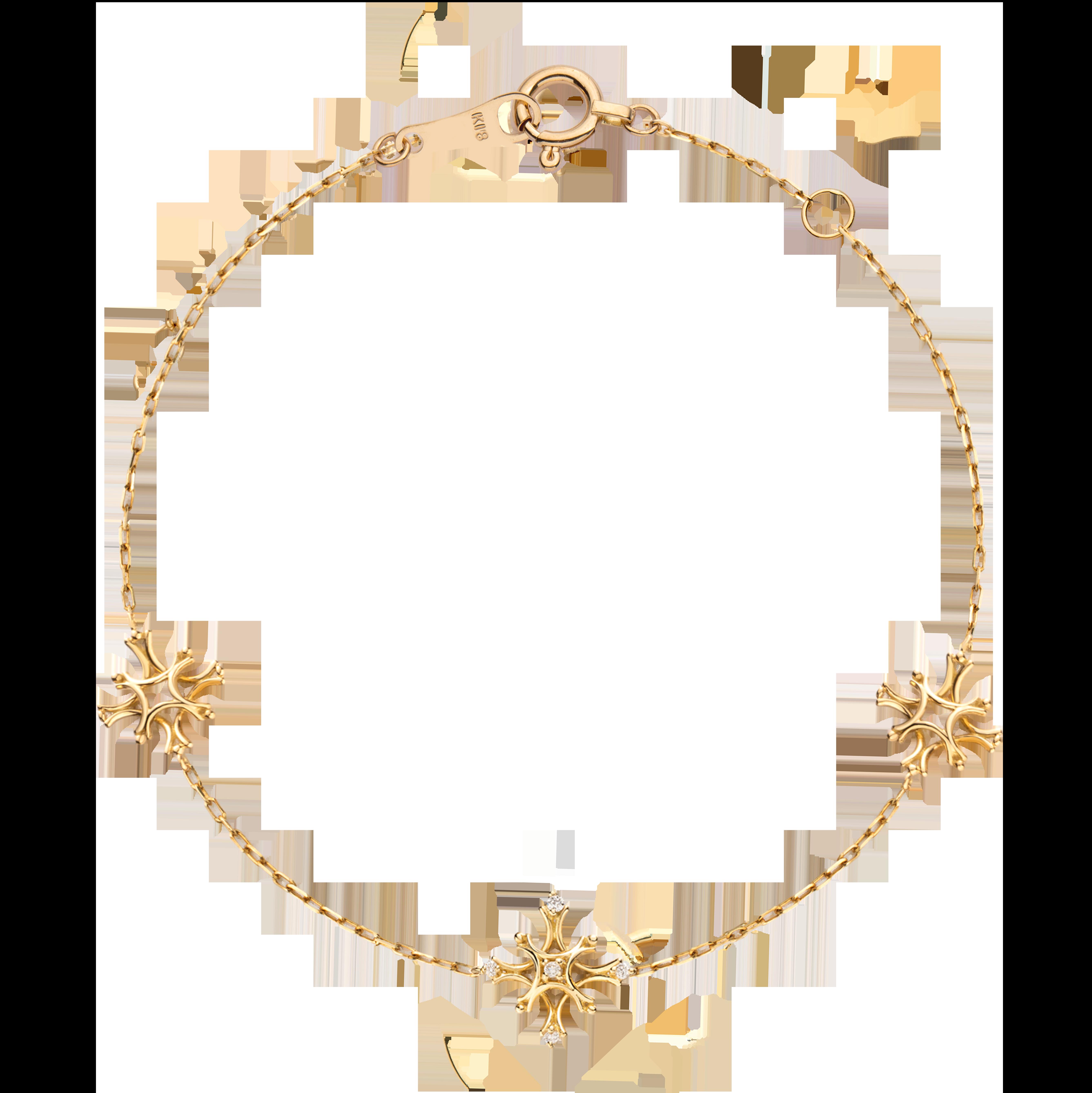 Flocon Collection 18K黄金 钻石雪花手链 4399