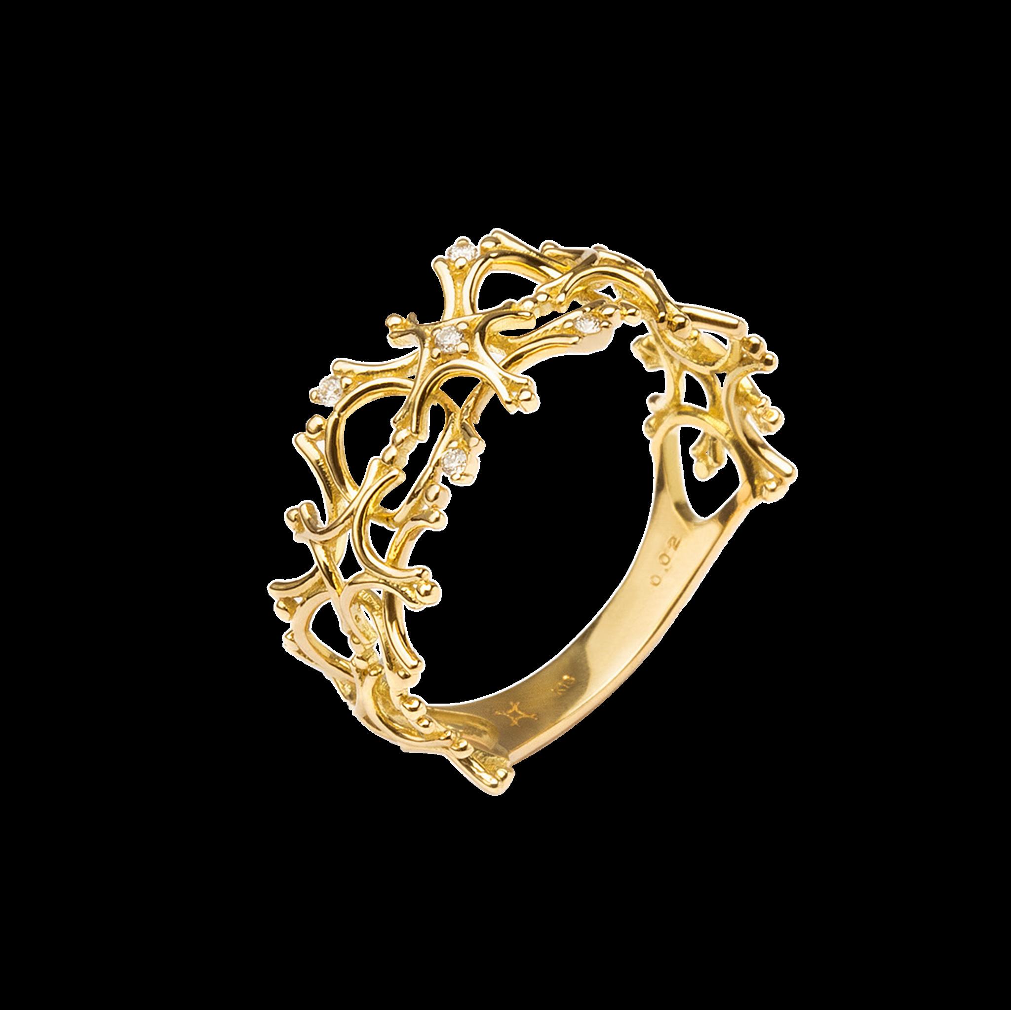 Flocon Collection 18K黄金 钻石 雪花戒指 4399