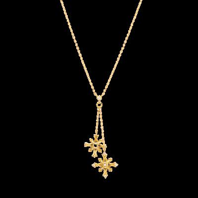 Flocon Collection 18K黄金 钻石雪花吊坠项链 4699