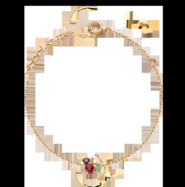 第一件珠宝 蜕变 Collection 18K黄金 四合一彩宝手链 (切割版) 4399
