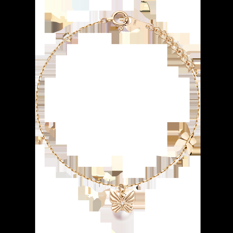 Frivole Collection 10K黄金 蝴蝶珍珠项链 3999