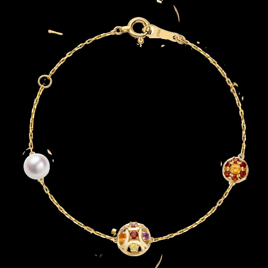 Boule de Noel Collection 18K黄金 珍珠 彩宝手链 8999