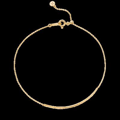 Martelage Collectiob 10K黄金 锤目纹几何手链 2699