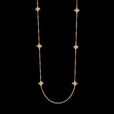 Flocon Collection 18K黄金 钻石雪花吊坠长链 9999
