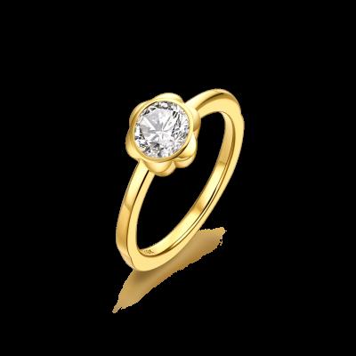 Magnolia Collection 18K黄金 钻石花蕾戒指 戒托:¥6699