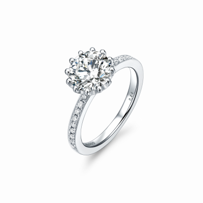 Magnolia Collection 900铂金单钻戒指2 戒托:¥12399
