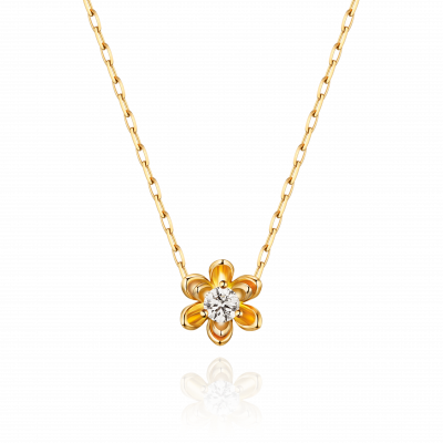 Magnolia Collection 18K黄金 单钻项链1 (10分钻:¥3699 :  20分钻:¥5799 : 30分钻:¥8199 : 5分钻:¥2999)