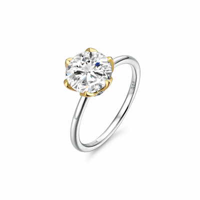 Magnolia Collection 900铂金 单钻戒指1 戒托售价:¥5199