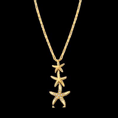 13 Ocean Collection Trésor 18K金 海星钻石项链 ¥ 8699